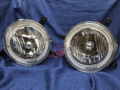 2005-2009 FORD Mustang V6 GT Euro Clear Halo Fog Lights Driving Bumper Lamp