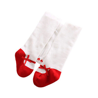Baby Infants Girls Cute Bow Cotton Elastic Stockings Tights Pantyhose Long Socks