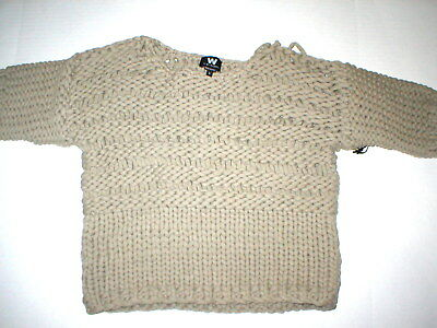 Nwt Womens S W Worth New York Designer Sweater Hand Knit 328 Thick