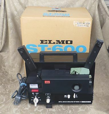 Elmo St-600M Super 8 Sound 2 Track Movie Projector Japan Mint In Box