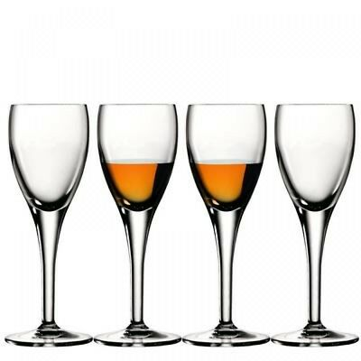 NEW Luigi Bormioli Masterpiece Liquer Glasses Set of 4
