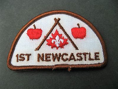 Boy Scouts Canada  1St Newcastle Embroidered Patch Apples Cubs