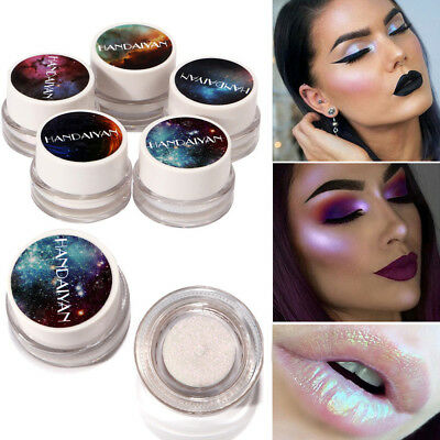 5Colors Glitter Shimmer Eyeshadow Lip Palette Powder Pigment Makeup Eye Shadow