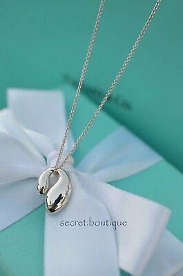 """AUTHENTIC Tiffany & Co. Sterling Double Teardrop Pendant Necklace 16"""" (#1079)"""