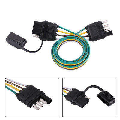 trailer wiring harness extension 4 pin plug flat wire connector rh picclick com Wiring Harness Pins Hopkins Trailer Harness