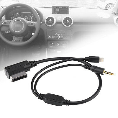 New Car AMI MDI MMI MP3 3.5mm AUX Cable Adaptor For iPhone 5 5s 6 Audi A3 VW BD