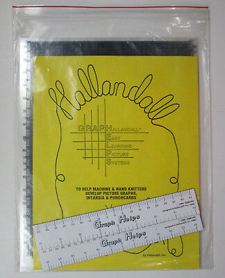 Hallandall Graph Helps for Machine & Hand Knitters Picture Intarsia Punchcards