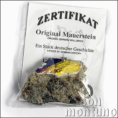 REAL PIECE OF THE BERLIN WALL with Certificate of Authenticity - German History