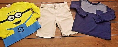 Boys Clothing Age 7 Years 3 Items Chinos/2 Tops Ex Cond. Despicable Me, Zara..