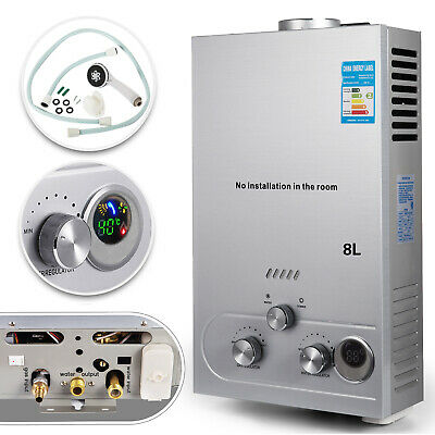 8L Tankless Propane Gas LPG Instant On-Demand Hot Water Heater With Showers