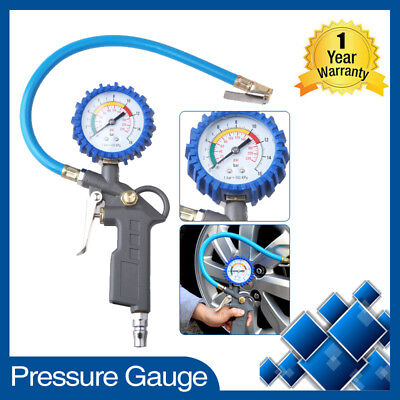 Car Truck Tire Air Pressure Dial Gauge Meter Tester Motorcycle Bike PSI Valve AU