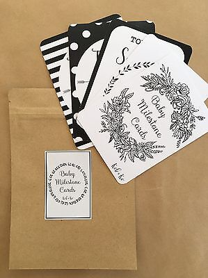 Baby Milestone Cards (Black & White) Weeks, Months, Years & Stages