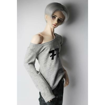 1/3 Male BJD Clothing Long Sleeve T-shirt for 70cm SD DD DOD Costume Grey