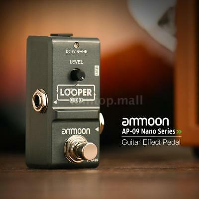 ammoon Nano Loop Electric Guitar Effect Pedal Looper Unlimited Overdubs USB NEW