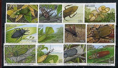 Belize QEII 1995 Insects definitive set of 12 SG1170A/81A MNH