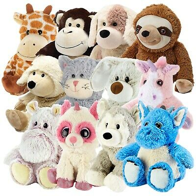 New Warmies Cozy Plush Microwavable Heatable Warm Animal Cuddly Soft Toy Bedtime