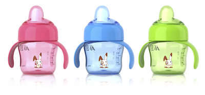 New Philips Avent Easy Sip Spout 200ml Cup/Bottle with Handle for 6m+ | SCF750