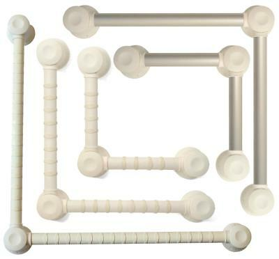 Gordon Ellis Prima Pivot Grab Bar System - White or Silver (Various Lengths)