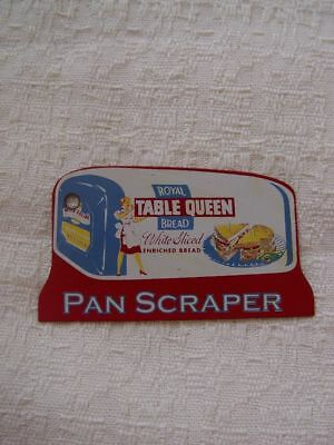 Royal Table Queen White Bread Loaf Shaped Advertising Pot Pan Scrape
