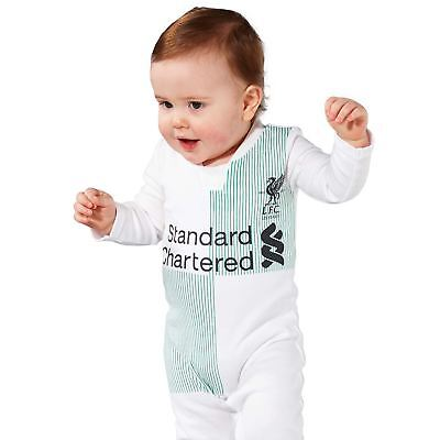 Liverpool FC LFC Baby Boys Girls Away Sleepsuit Sleepwear 17/18 Official