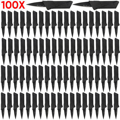 Portable Credit Card Knives Lot Folding Wallet Thin Pocket Survival Micro Knife
