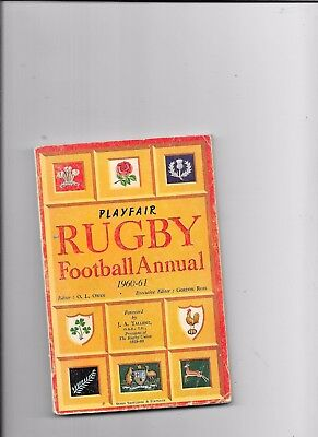 Playfair Rugby Football Annual 1960-61 Gordon Ross
