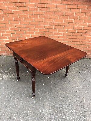 Antique Victorian Solid Mahogany Pembroke Table In Very Good Order