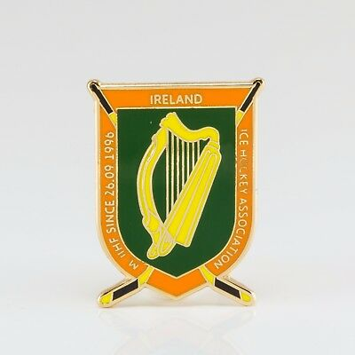 Ice Hockey Federation of Irland pin, badge, lapel, hockey