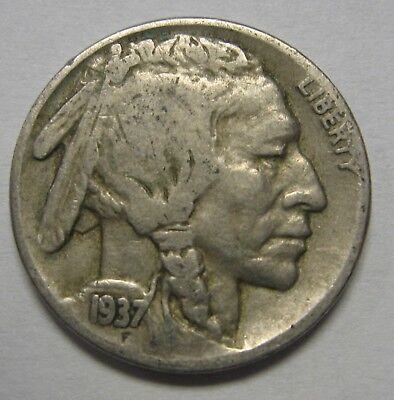 1937-D Buffalo Nickel Grading VG to FINE Nice Original Coins DUTCH AUCTION