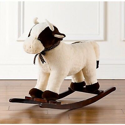 RH Baby Restoration Hardware Plush Animal Rocker Cow