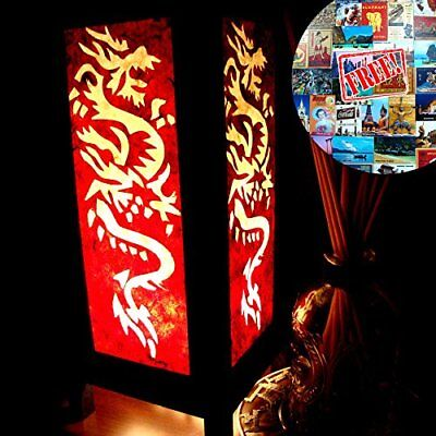 White Red Dragon Table Lamp Lighting Shades Floor Desk Outdoor Touch Room