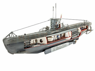 Revell 05060 German Submarine U-47 mit Interior Bausatz, 1:125