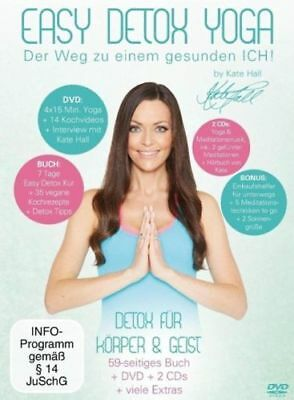 EASY DETOX YOGA by Kate Hall Buch & DVD & 2 CDs & Bonus NEU/ OVP