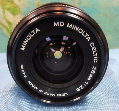 Fully Refurbished Minolta Md Celtic 28Mm F/2.8 Lens With Filter & Caps