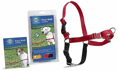 PetSafe Easy Walk Dog Harness Clamshell High-Quality Nylon Durable Medium Red