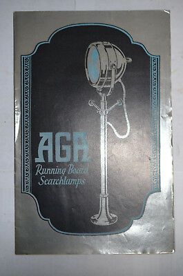 Aga Running Board Searchlamps Brochure, Automotive, ca 1920s