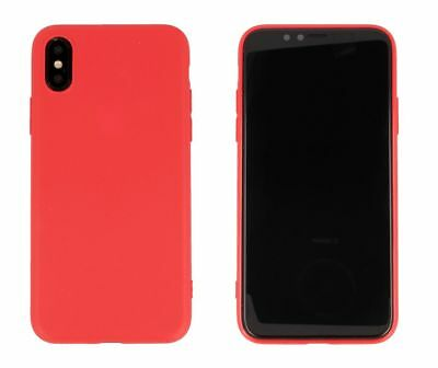 CoverKingz Apple iPhone Xs / iPhone X Hülle ROT Softcase Silikon slim Handyhülle
