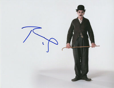 Robert Downey Jr. Autographed Charlie Chaplin Signed 11x14 Photo AFTAL