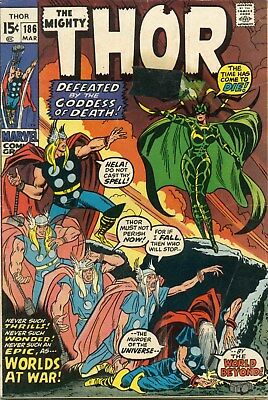 Thor #186 - March, 1971 - Very Good - Hela Goddess of Death