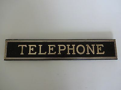 3 slot Payphone cast brass Phone booth sign antique Telephone sign