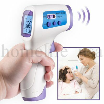 Forehead Thermometer Digital Infrared Non-Contact Baby Toddlers LCD Display IR