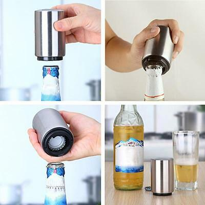 Bottle Opener Automatic Push Down StainlessSteel Juice Drinking Soda Cap Openers