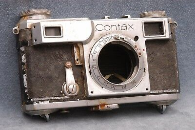 Totally Trashed Vintage Contax Ii Film Camera Body As-Is
