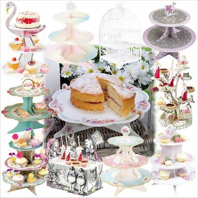 3 Tier Cake Stand Wedding Party Cupcake Dessert Display Card Stand Table Decor