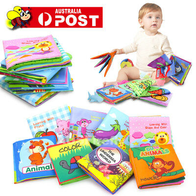 Baby Kids 0-3 Years Intelligence Development Cloth Cognize Book Educational Toy
