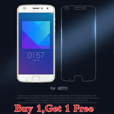 2X Genuine Tempered Glass Screen Protector Protection Film For Moto G4 G5 Plus