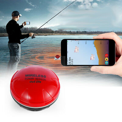 Wireless Sonar Fish Finder Bluetooth Depth Sea Fish Detect Device iOS Android