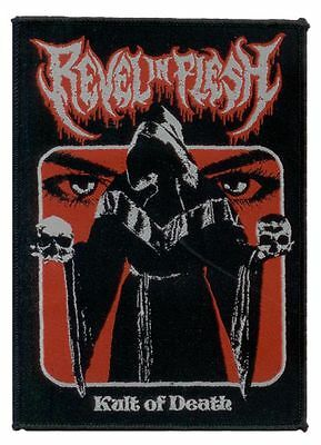 REVEL IN FLESH woven patch KULT OF DEATH gewebter Aufnäher Teutonic Death Metal