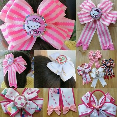 """50 BLESSING Good Girl Boutique 5x6.5"""" Bowknot Ponytail Hair Bow Elastic 128 No."""