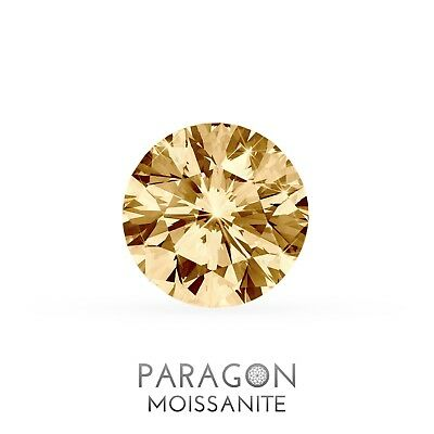*NEW* Paragon Moissanite Vivid Fancy Champagne Loose Round Brilliant Diamond Alt